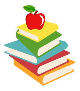 Apple and Books graphic
