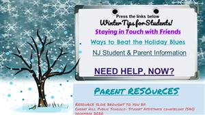 Winter Tips for Students and Parents