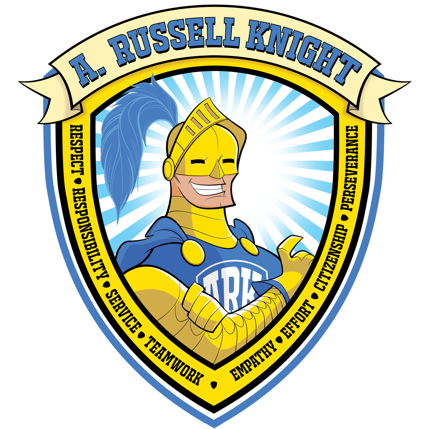 A. Russel Knight Respect, Responsibility, Service, Teamwork, Empathy, Effort, Citizenship, Perseverance